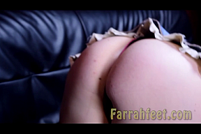 FARRAHFEET.COM-13-Farrah foot Stalker-Come worship my feet while I taught and tease you with my sexy feetIf you're a good foot boy. I'll take my shoes off and let you see my sparkling red and green toes. You will even get a glimpse of my ass.-FSCENE.f4v